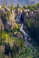 Fan Falls from the trail to Boulder-Grand Pass